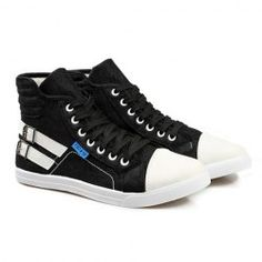 $18.22 Stylish Style Casual Men's Spring Canvas Shoes With Buckle and High Top Design