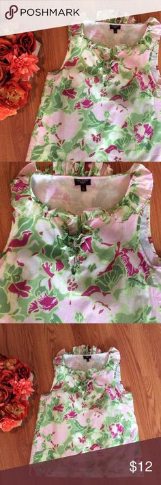 Talbots floral top Excellent condition! Talbots Tops Blouses