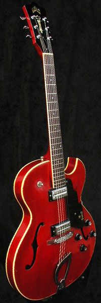 1967 Guild Starfire II in cherry red finish.