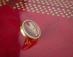 Cool Gold Ironman Mask  Tie/Lapel Pin by UnofficiallyOriginal