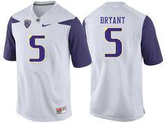 Men  5 Myles Bryant Washington Huskies College Football Jerseys Sale-White Washington  Huskies Football 8d444e341