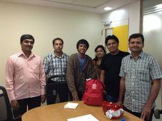 """Job 6 : Découverte du service """"pricing management"""" chez Adecco Bangalore - Tolotra en Inde avec toute l'équipe du service """"pricing management"""" d'Adecco Bangalore #Waytowork #adecco2013 http://adecco.fr"""