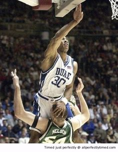 Dunking like a boss – When needing that extra lift to make that dunk, here the opponent does not like it.