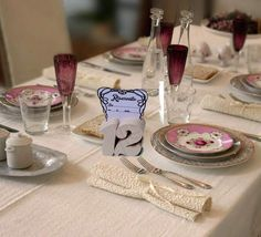 Numeri tavolo in legno di pino 2