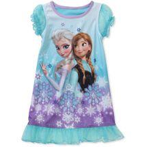 Walmart: Disney Frozen Toddler Girl Anna and Elsa Nightgown 3T or 4T