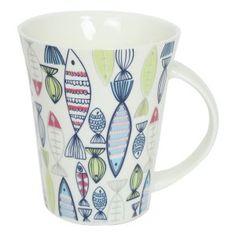 12oz new bone china mug with fish design