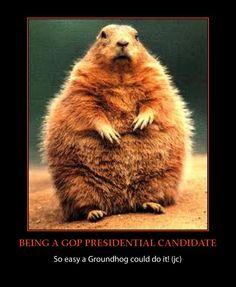 Groundhog president-gop funny-happy groundhog day