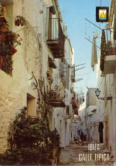 The back streets of Ibiza Town. See #ibiza this summer with #keyibiza