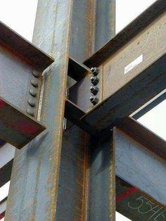 Joint of H/I-Shape Steel Beam - Bolt-jointed & Welding #PergolaHeightClearance