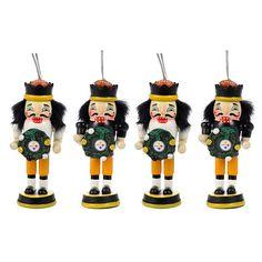 Pittsburgh Steelers 4-Pk. Nutcracker Ornaments $24.99