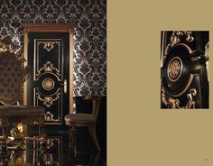 Luxusní zdobené dveře z masivního dřeva v černém provedení od Boiserie Italia. Kompletní nabídku této značky naleznete na našich stránkách: http://www.saloncardinal.com/galerie-boiserie-italia-3c2