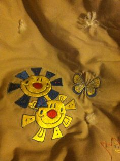 Embroidered play mat or diaper pad by TheHappyvibe on Etsy, $35.00