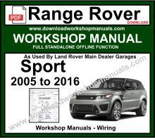 Range Rover Sport Workshop Service Repair Manual Wiring Diagrams 2005 To 2016 Download Buy Now Just 9 95 Range Rover Range Rover Sport Repair Manuals