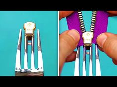 EASY SEWING TRICKS Check out sewing tips and tricks for beginners and pros! If you have a sewing machine at home but don't know what to do with it, we prepar. Sewing Hacks, Sewing Tutorials, Sewing Crafts, Sewing Patterns, Sewing Tips, Techniques Couture, Sewing Techniques, Fix A Zipper, Zipper Repair