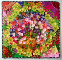 Check out this beautiful quilt made by Allison Aller using our petals #Customfabricflowers