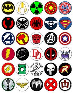 superhero logos list and names image galleries imagekb