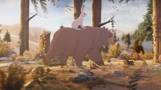 John Lewis - The Bear & The Hare on Vimeo — A wonderful stop motion animation with a cartoon feel and hand crafted sets.