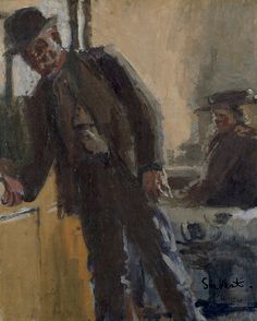 Sickert, Richard Walter (1860-1942) - 1912c. Off to the Pub (Tate Gallery, London)
