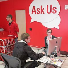 Ask Us, colour coded way finding & loan laptops http://www.lib.ncsu.edu/huntlibrary/photosandvideogallery