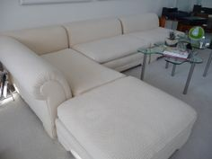 Mid Century Modern Sofa (2 love seats, 1 chaise, 1 ottoman) Foam and Goose/Down filled