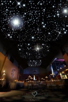 "Flaxton Gardens has the most fabulous 'starry nights"" ceiling in their main function room."