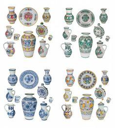 Modranska majolika Ceramic Art, Hungary, Mesto, Activities For Kids, Porcelain, Miniatures, Pottery, Ceramics, Embroidery