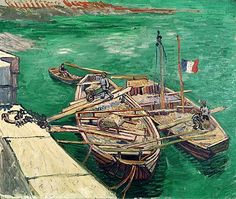 Vincent van Gogh - Landing Stage with Boats, 1888
