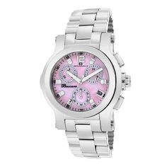 Oceanaut Womens Baccara Quartz Silver Band Pink mother of pearl Dial Stainless Steel Watch, Stainless Steel Bracelet, Best Watch Brands, Online Watch Store, Watch Sale, Luxury Watches, Michael Kors Watch, Chronograph, Bracelet Watch
