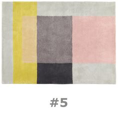 Hay & Scholten & Baijings' Color Carpet Rug #5  studiodaneinteriors.com