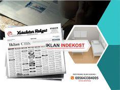 Pasang iklan baris Indekost di koran Kedaulatan Rakyat Jogja, Kirim Materi Iklan ke 085643384005 (SMS/WA)