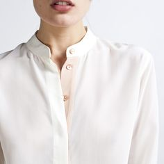 The perfect blouse? Everlane - Silk Blouse - Band Collar $80