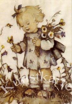 "Postkarte: M.I.Hummel ""Blumenkind"" 691"