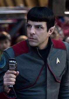 Star Trek Beyond production still Star Trek Characters, Star Trek Beyond, Zachary Quinto, Star Trek Universe, Spock, Cool Cartoons, Stars, Portrait, People
