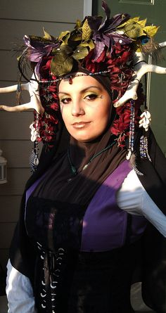 Antler Tribal Druid Headdress by AliceBoutiqueStore on Etsy, $175.00