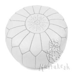 Asilah marokkói bőrpuff, fehér