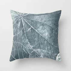 Leaves texture Throw Pillow by cafelab - $20.00