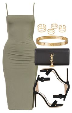 """""""Style #9927"""" by vany-alvarado ❤️ liked on Polyvore featuring Gianvito Rossi, Yves Saint Laurent and Cartier"""