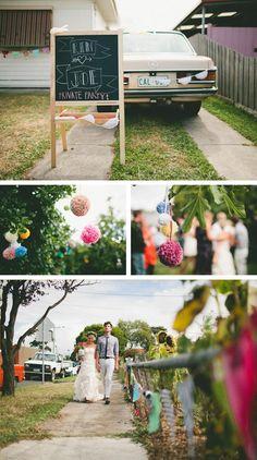 This heartfelt wedding had it all – including pom-poms. #EtsyWeddings