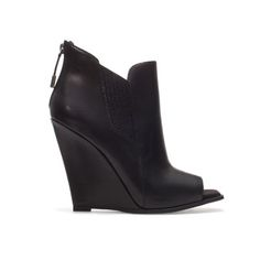 ZARA Peep Toe Wedge Ankle Boot -- can't wait til  we get these in our store.... COPPED!!!