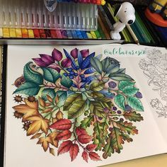 Totally loving my new coloring book by sooooo many fun things to color! Secret Garden Coloring Book, Coloring Book Art, Adult Coloring Book Pages, Colouring Pages, Enchanted Forest Book, Enchanted Forest Coloring Book, Prismacolor, Secret Garden Book, Faber Castell