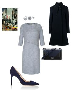 """Work"" by cgraham1 on Polyvore featuring Manolo Blahnik, Chanel, Chloé, BERRICLE and Home Decorators Collection"