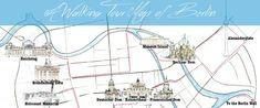 Berlin Walking tour map - Visit roadtripsaroundtheworld.com to learn more