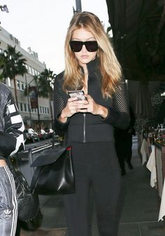 Gigi Hadid with Vianel lizard iPhone case