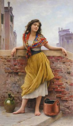 Eugene de Blaas 1843 -1931   Austrian Academic painter