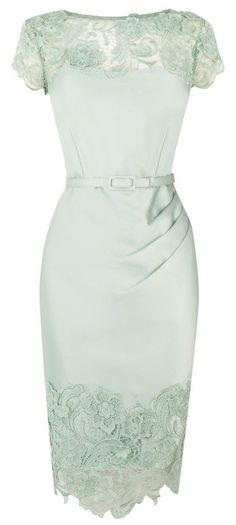 Pretty rather vintage-looking mint dress.