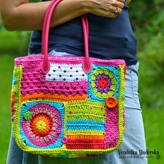 Crazy rainbow bag (Magic with hook and needles)