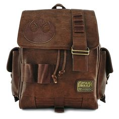 Loungefly x Star Wars: The Force Awakens Rey Faux Leather Backpack | All Nerd Rey Star Wars, Star Wars Rebels, X Wing, Geek Fashion, Star Fashion, Fandom Fashion, Mochila Star Wars, Star Wars Backpack, Stitch Backpack
