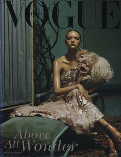 Gemma Ward in Valentino, photo by Steven Meisel, Vogue Italia*