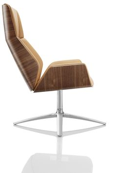 The Kruze Lounge chair from Boss Design is a fusion of classic and contemporary design. Its striking visual presence and comfortable sitting experience bear testament to its fine craftsmanship. The Kruze Lounge chair would compliment any executive lounge, board room, waiting area or meeting space. | Creating Happy Offices | Sound Proof Acoustic Phone Booths, Mid-Century and Contemporary Office Design and Furniture | Framery UK & Office Blueprint