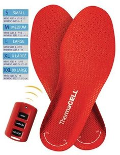 ThermaCell Rechargeable Heated Insole: with wireless remote!
